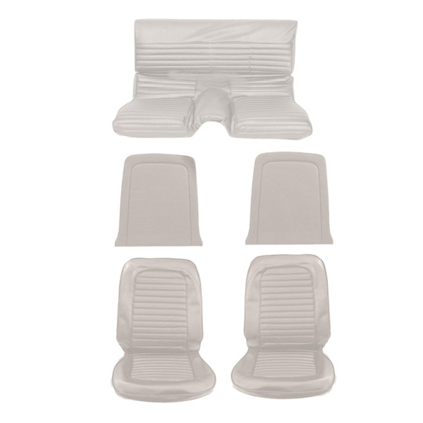 Sitzbezugsatz Standard, 65 Fastback, Weiß (White)