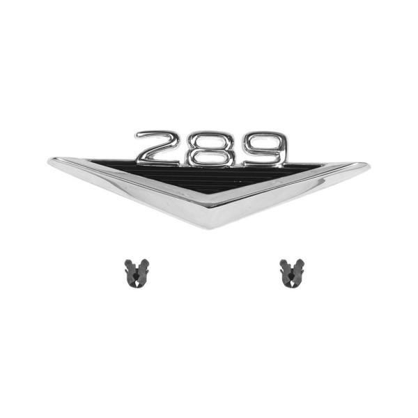 """Kotflügel-Emblem """"289"""" V-Form, 65-66"""
