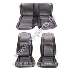 Sitzbezugsatz MACH I, 70 Fastback, Schwarz (Black)