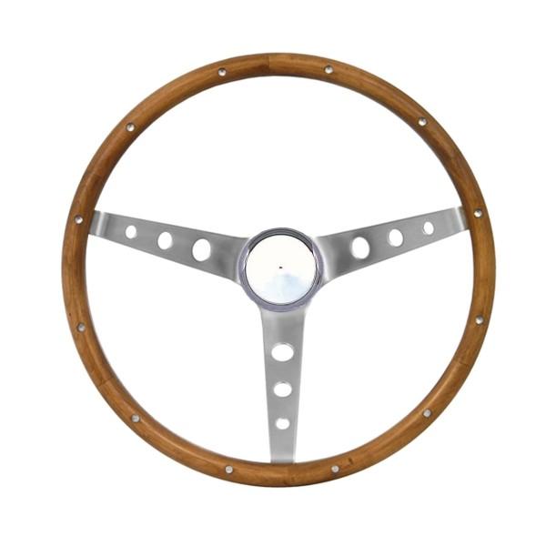 "Lenkrad Grant Holz 15"", mit Hupenknopf ohne Logo - B-Ware!"