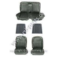 Sitzbezugsatz Deluxe, 68 Coupe, Schwarz (Black)