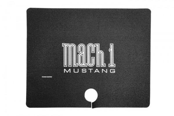 """Kofferraummatte Coupe und Cabriolet 64-70 mit """"Mach 1"""" Logo, Stück"""