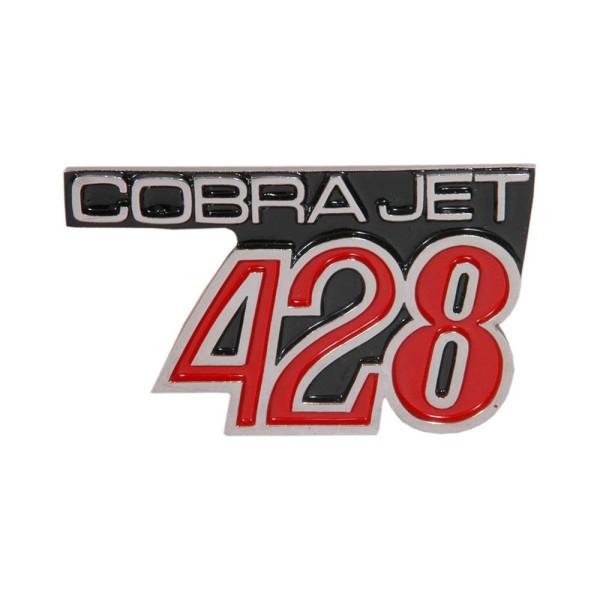 "Kotflügelemblem ""428 Cobra Jet"", 68 GT500 KR"