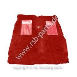 Teppich 71-73 Cabrio Mach I rot mit 2 roten Einsätzen
