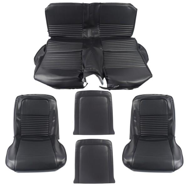 Sitzbezugsatz Standard, 67 Fastback, Schwarz (Black)