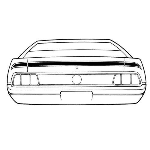 Zierstreifen, 71-72, MachI, nur Kofferdeckel, Schwarz