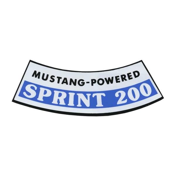 Luftfilteraufkleber Sprint 200 66