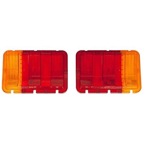 Glas Rückleuchte, 67-68, Rot mit gelbem Blinker