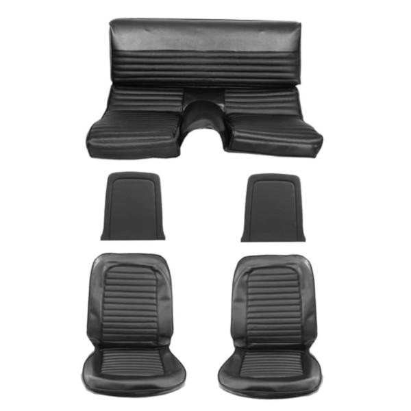 Sitzbezugsatz Standard, 66 Fastback, Schwarz (Black)