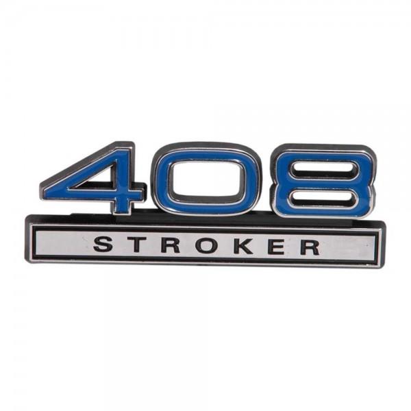 "Emblem ""408 Stroker"", Blau"