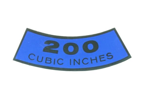 Luftfilteraufkleber 200 65-68