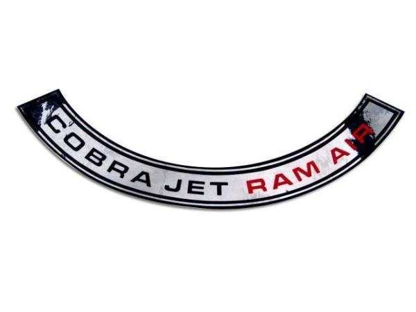 Luftfilteraufkleber CJ RAM AIR 69-70