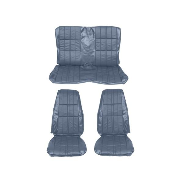 Sitzbezugsatz Deluxe, 71-73 Fastback, Blau (Blue)