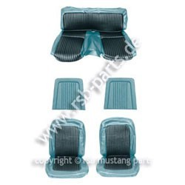 Sitzbezugsatz Standard, 68 Fastback, Blau (Blue)