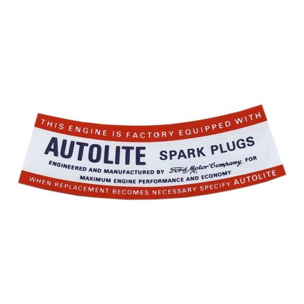 Datenaufkleber Autolite Spark Plugs -67