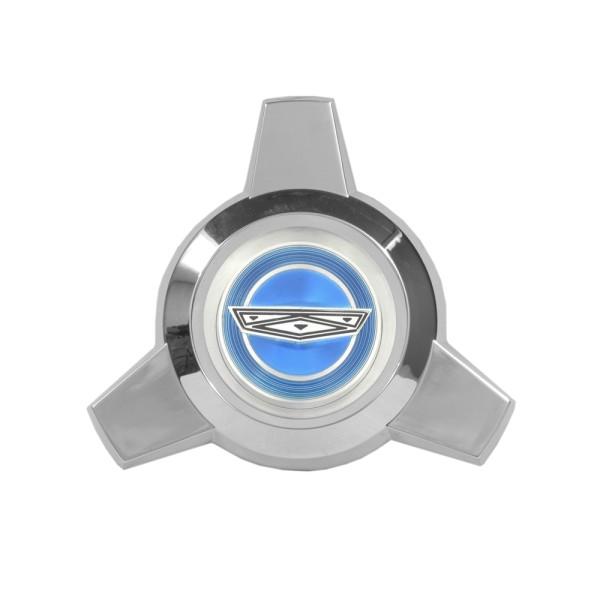 Zentralverschlußattrappe für Speichenradblende, 65-66, Blau Ford-Crest