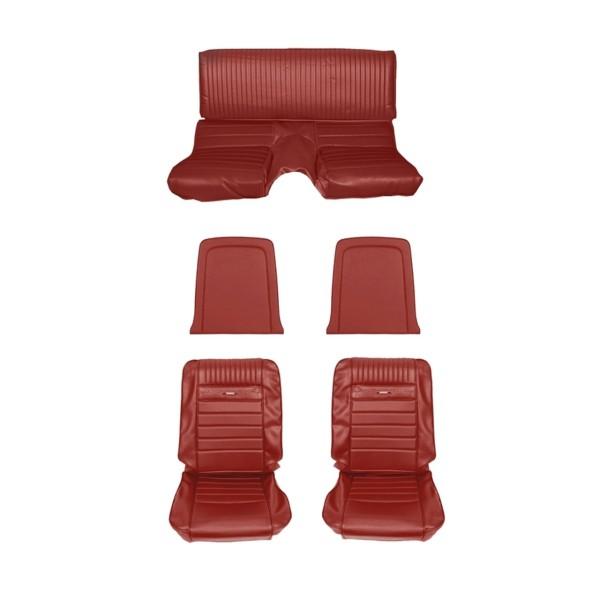 Sitzbezugsatz Pony, 65 Fastback, Rot (Red)