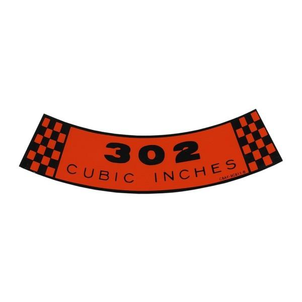 Luftfilteraufkleber 302 68-69