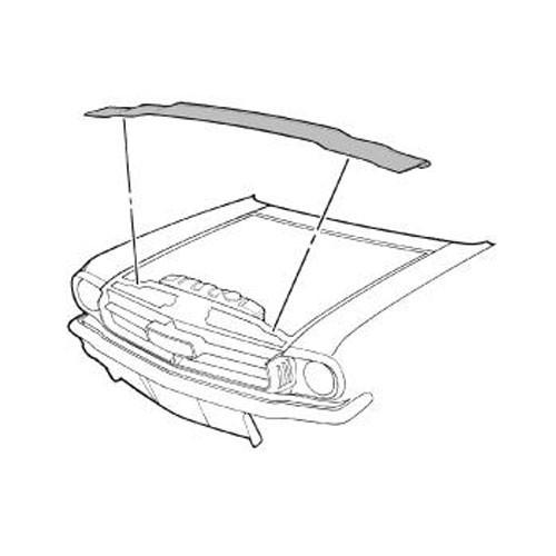 Dichtung Kühlerzwischenwand-Motorhaube, 65-70