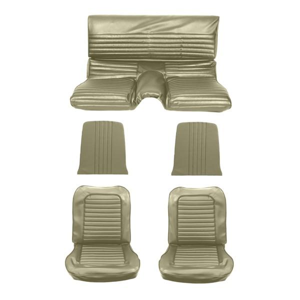Sitzbezugsatz Standard, 65 Fastback, Efeu-Gold (Ivy Gold)