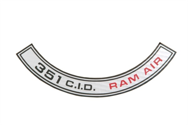 Luftfilteraufkleber 351 RAM AIR 69-70