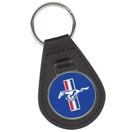 Schlüsselanhänger Mustang Leder