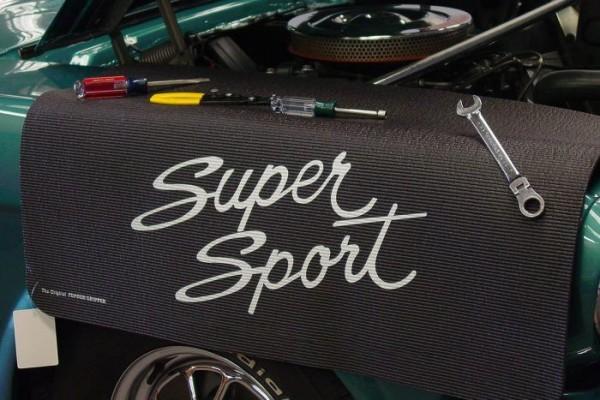 Kotflügelschoner mit - Super Sport Script - Logo, Stück