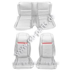 Sitzbezugsatz MACH I, 69 Fastback, Weiß/Rot (White/Red)
