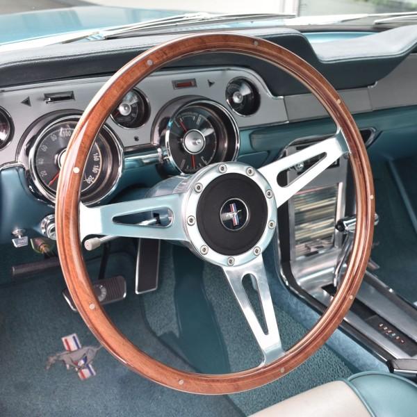 "Lenkrad 3-Speichen ""Sebring Style"" mit Nabe in 15"" mit Mahagoni Look, 68-73"