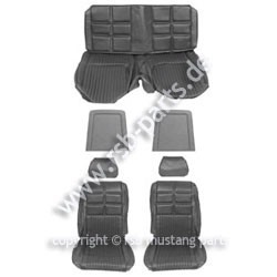 Sitzbezugsatz Deluxe, 69 Fastback, Schwarz (Black)