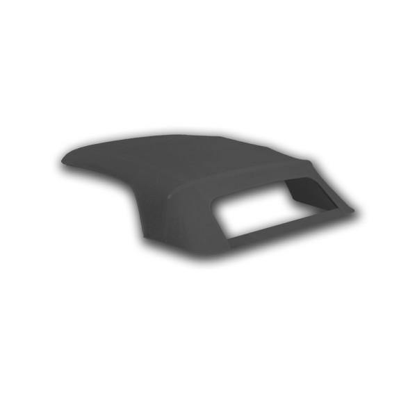 Verdeck mit Plastik-Scheibe, 65-66, schwarz