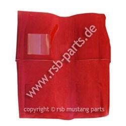 Teppich 69-70 Cabrio rot