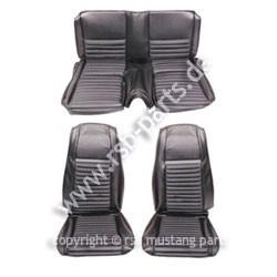 Sitzbezugsatz MACH I, 70 Fastback, Schwarz/Grau (Black/Gray)