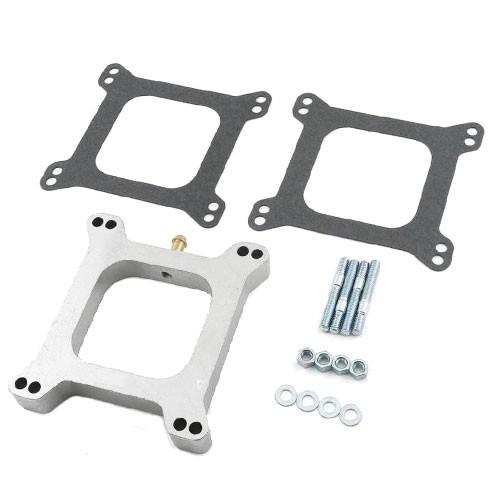 Distanzplatte Aluminium für 4V-Vergaser, offen, 25,4mm, 65-73