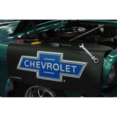 Kotflügelschoner Extra Long mit - Chevrolet Bowtie - Logo, Stück