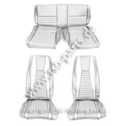 Sitzbezugsatz MACH I, 71-73 Fastback, Weiß (White)