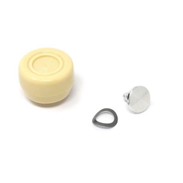 Knopf Fensterkurbel, 68-73, Weiß