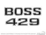 Aufkleber Kotflügel, 69-70, Boss 429, Schwarz