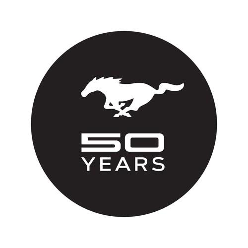 """Aufkleber für Windschutzscheibe """"Mustang 50 Years"""""""
