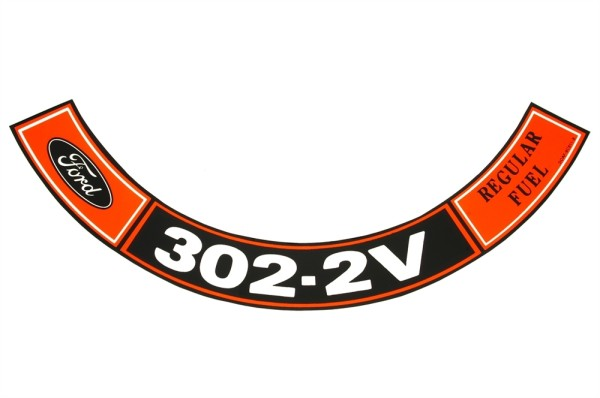 Luftfilteraufkleber 302 2V 70-71
